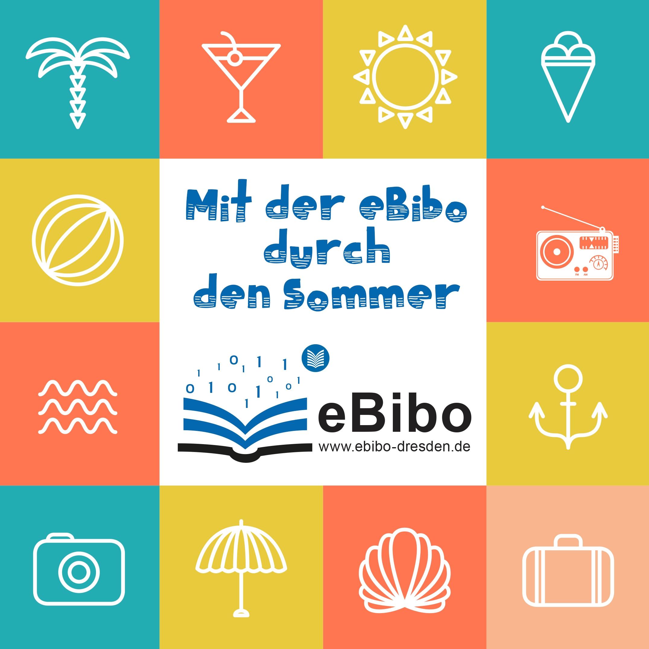 Logo mit der eBibo durch den Sommer